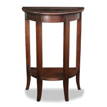 Glass Top Demilune Hall Stand #10035