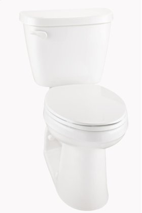 """White Maxwell® 1.28 Gpf 4 1/4"""" Vertical Rough-in Two-piece Back Outlet Compact Elongated Ergoheight Toilet"""