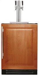 24 Inch Dual Tap Overlay Solid Door Beverage Dispenser - Left Hinge Overlay Solid Product Image