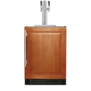 True Residential24 Inch Dual Tap Overlay Solid Door Beverage Dispenser - Right Hinge Overlay Solid