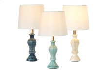 Ribbed Finial Accent Lamp. 40W Max. (3 pc. ppk.)