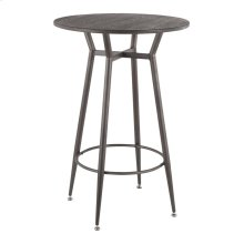 Clara Round Bar Table - Antique Metal, Espresso Bamboo