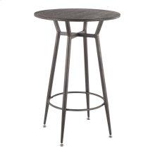 Clara Round Bar Table - Antique Metal, Espresso Bamboo