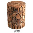 "12x12x18"" ROUND MOZAIXC STOOL, 1PC PK/ 1.86' Product Image"