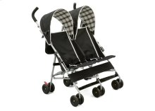 DX Side x Side Stroller - Black\/Plaid (007)