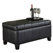Bella Rectangular Storage Ottoman in Black