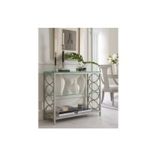Cinema by Rachael Ray Glass Top Sofa Table