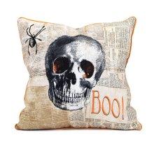Apothescary Halloween Skull Pillow