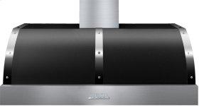 Hood DECO 48'' Black matte, Chrome 1 power blower, electronic buttons control, baffle filters