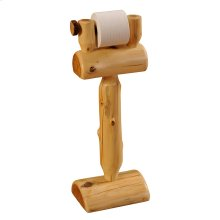Toilet Paper Holder - Natural Cedar - Freestanding