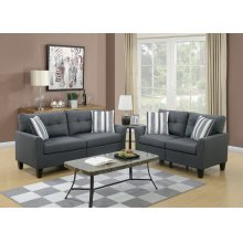 F6533 / Cat.19.p37- 2PCS SOFA CHARCOAL