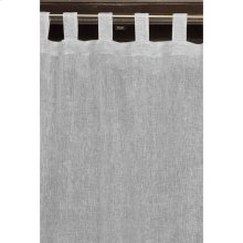 Central Park Salt & Pepper 42x84 100% Linen Curtain