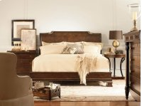 Platform Bed With Bun Foot & Veneer H.B. King Size 6/6 Product Image