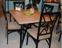 SANFORD METAL AND WEATHERED OAK 5 PC DINETTE