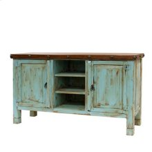 Turquoise Walnut TV Stands