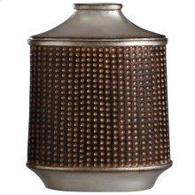 Winthrop Bronze & Khashi Silver  13in Accessory Vase