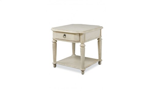Provenance Drawer End Table - Linen