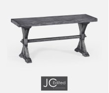 Narrow Antique Dark Grey Topped Bench
