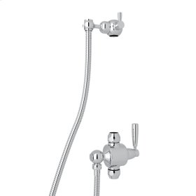 Polished Chrome Perrin & Rowe Holborn Riser Diverter Kit With Hose And Sliding Bracket