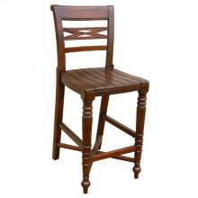 Raffles Wooden Seat Counter Stool
