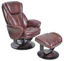 Roma 15-8022 Pedestal Chair and Ottoman