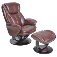 Roma 15-8022 Pedestal Chair and Ottoman