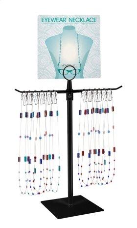 14 pc. assortment. Beaded Eyewear Chain & Counter Display