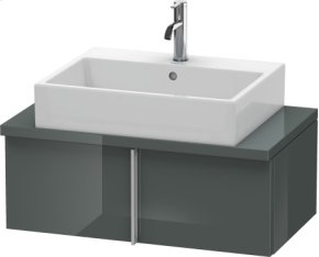 Vero Vanity Unit For Console Compact, Dolomiti Grey High Gloss Lacquer