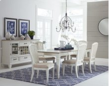 Rockport 7-piece Rectangle Dining Set With Side Chairs - White With Driftwood Top