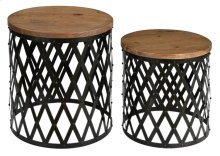 Bengal Manor Iron and Mango Wood Set of Tables