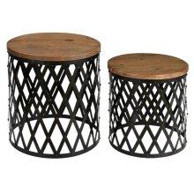 Bengal Manor Iron and Mango Wood Set of Tables
