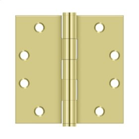 "4 1/2"" x 4 1/2"" Square Hinges, HD - Polished Brass"