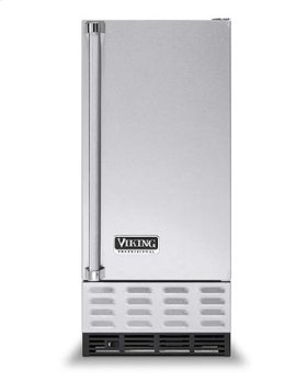 "Cotton White 15"" Undercounter/Freestanding Ice Machine - VUIM ((left hinge))"