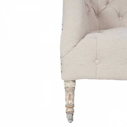 Olivia Salon Chair in Barnwood Gray and Cloud