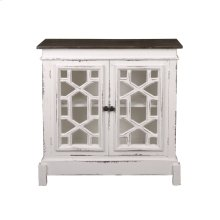 CC-CHE301TLD-WWRW  Cottage Lattice Cabinet