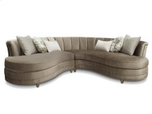 Taupe Sofa 2 Pcs Sectional