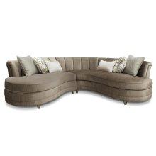 Taupe Sofa 2 Pcs Sectional