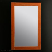 "Mirror with wood frame, 24""W, 38""H"