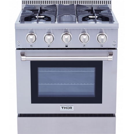 Thor Kitchen30 Inch Professional Gas Range In Stainless Steel
