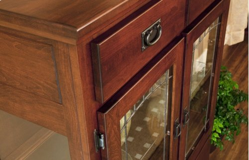 2 Door Dining Chest W/Lead Glass