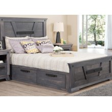Algoma Double 4 Drawer Storage Platform Bed Bed with 22'' Low Footboard
