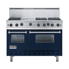 "Viking Blue 48"" Open Burner Range - VGIC (48"" wide, six burners 12"" wide griddle/simmer plate)"