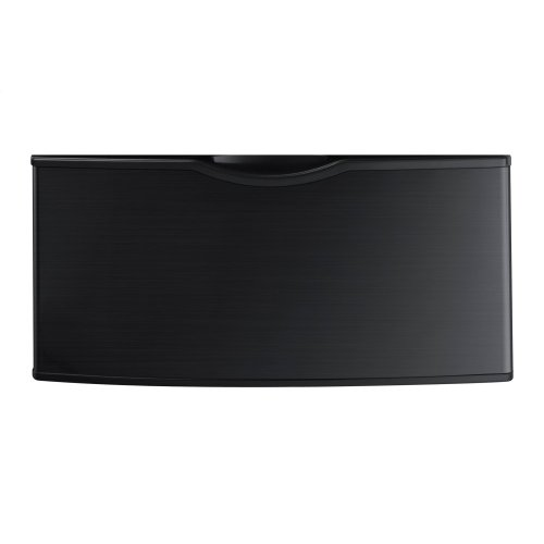 """WE357A0V/XAA 14"""" Laundry Pedestal (Black Stainless)"""