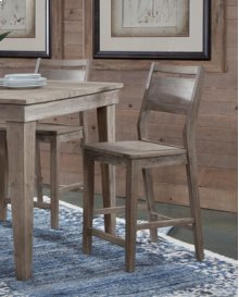 Aspen Panelback Stool Gray Wash