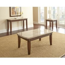 "Eileen Marble Top Cocktail Tbl W 48"" x D 26 "" x H20"""