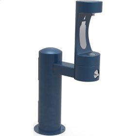 Elkay Outdoor EZH2O Bottle Filling Station Pedestal, Non-Filtered Non-Refrigerated Freeze Resistant Blue