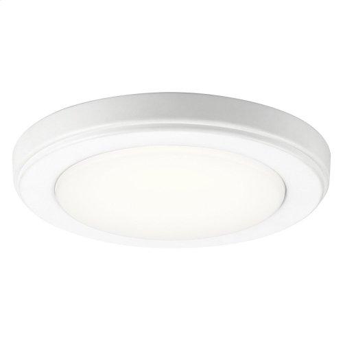 "Zeo 3000K LED 7"" Round Flush Mount White"