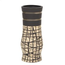 Natural Vase with Black Accents, Small