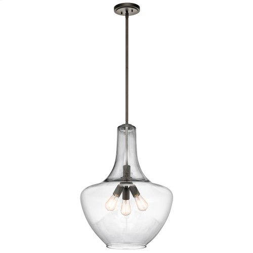 Everly Collection 3 Light Everly Pendant in Olde Bronze