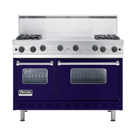 "Cobalt Blue 48"" Open Burner Commercial Depth Range - VGRC (48"" wide, four burners 24"" wide griddle/simmer plate)"